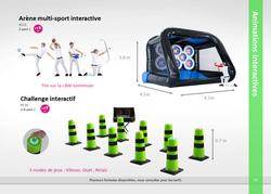 Arène multi-sport ou challenge interactif