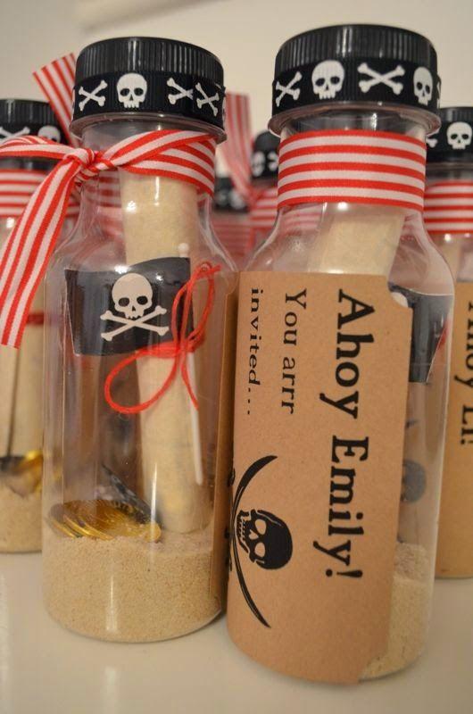Autre idée invitation pirate bouteille source pinterest