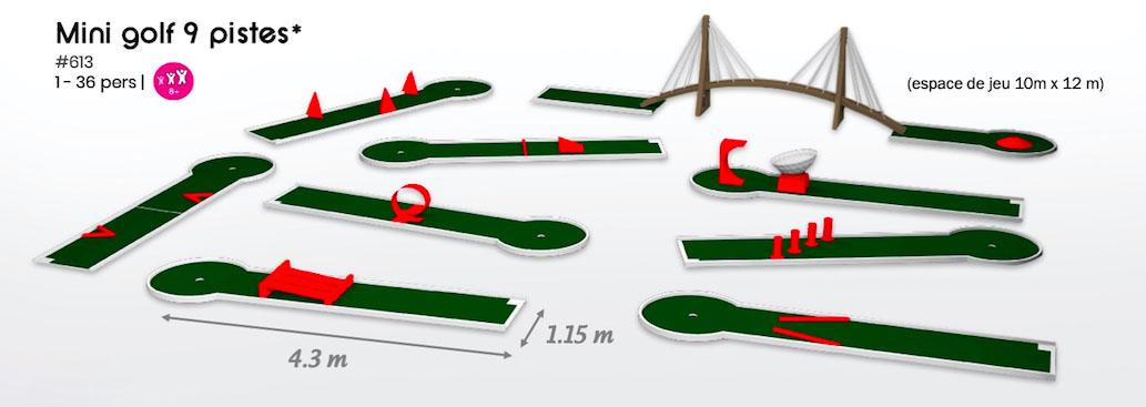 #613 Mini golf 9 pistes