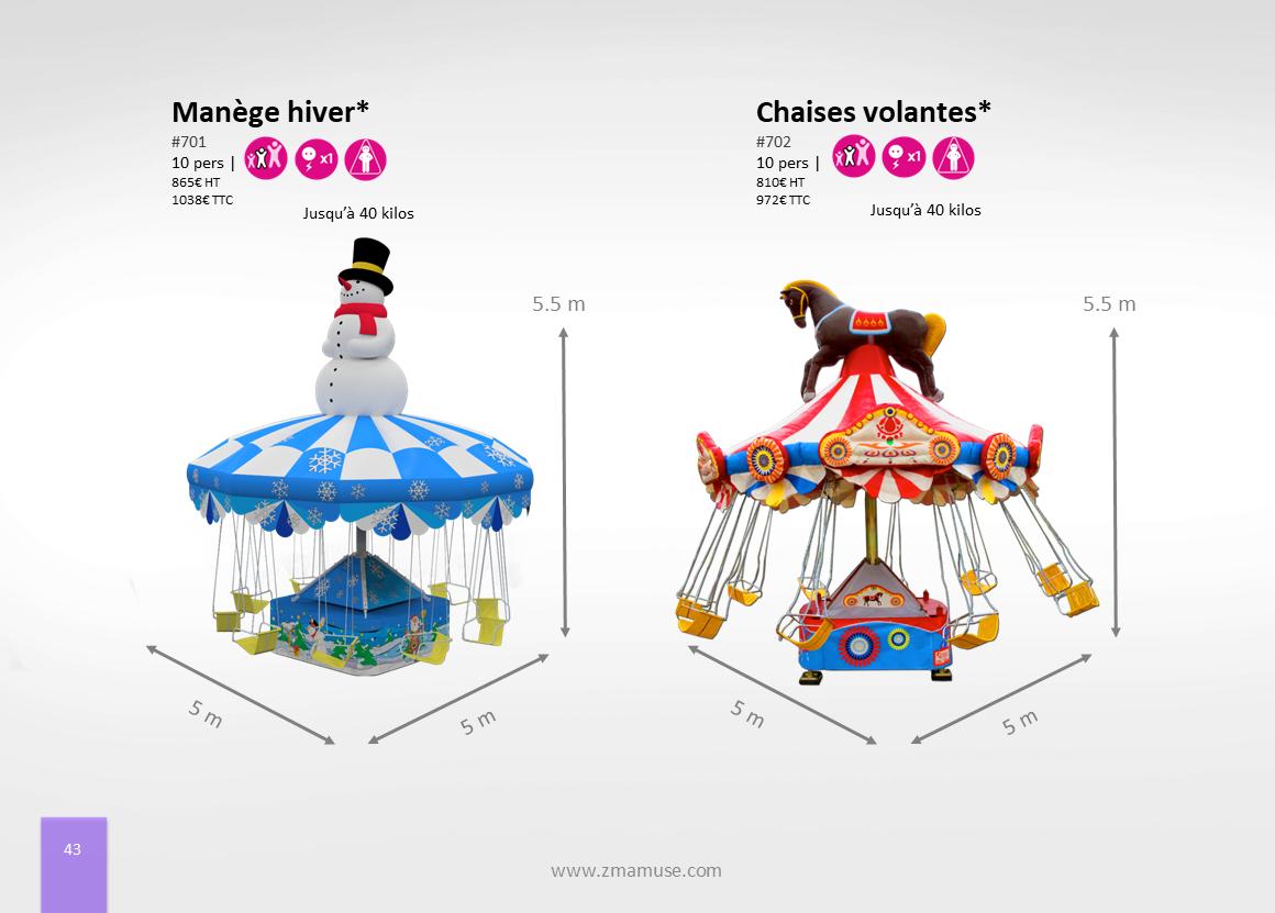 Manèges chaises volantes