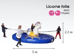 #826 licorne folle