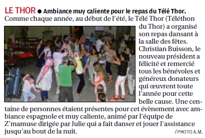 article téléthon Le Thor LA PROVENCE