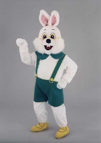 mascotte lapin blanc lunettes