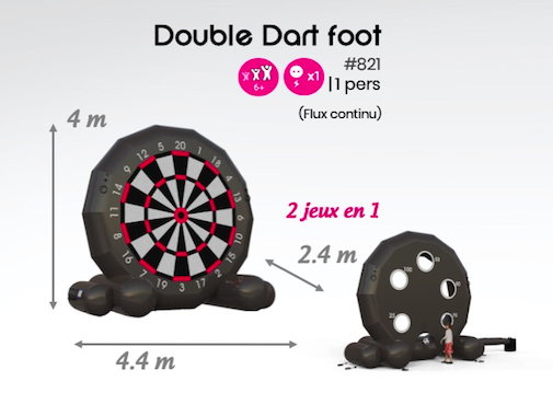 #821 double dart foot