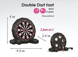 #821 double dart foot