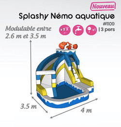 #1109 Splashy nemo aquatique