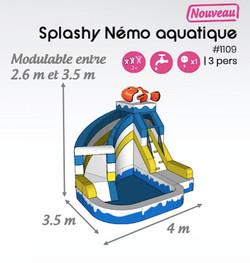#1109 Splashy nemo aquatique