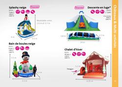 Location jeux gonflables hiver