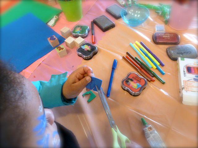 Atelier tampon enfant