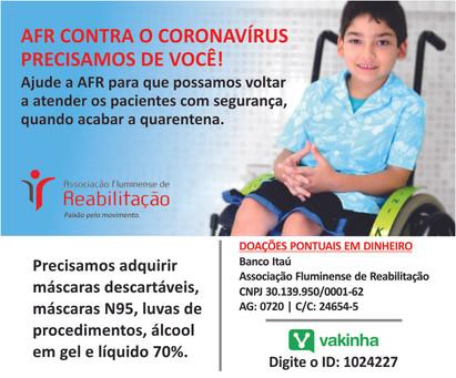 AFR contra o Corona vírus: precisamos de você!