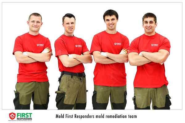 Mold certified technicians. Mold First Responders personnel.