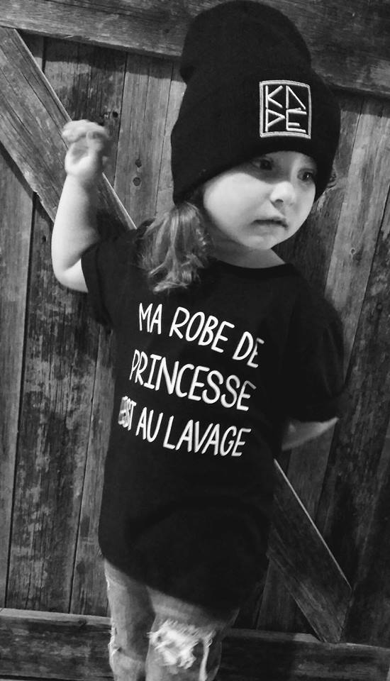 T-Shirt Enfant ROBE DE PRINCESSE