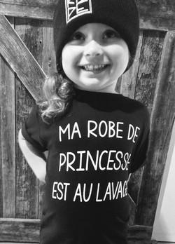 T-Shirt Enfant ROBE DE PRINCESSE