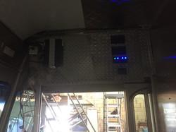control panel in cab