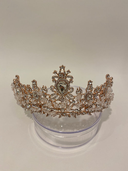 Gold Crown with Silver rhinestones