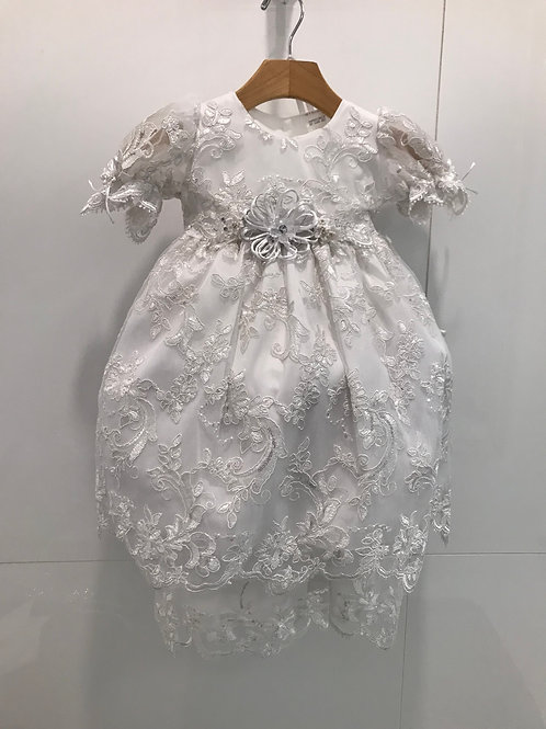 Lace/Silver Antique Dress