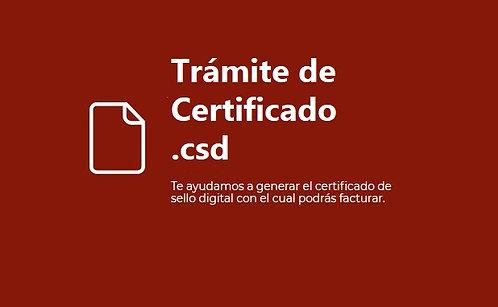 Trámite certificado .csd GRATIS