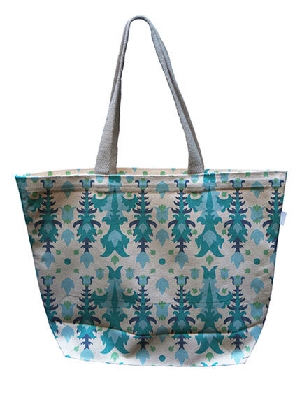 Flowering Icicle Canvas Tote