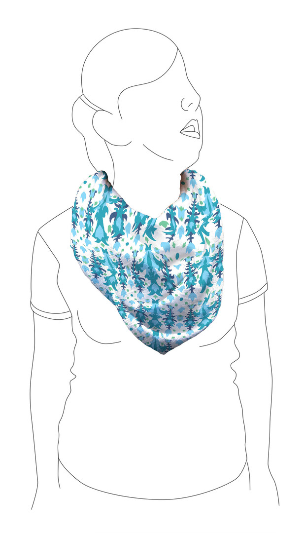 Scarf 1: Front view