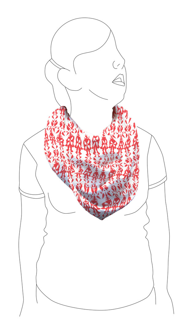 Scarf 2: Front view