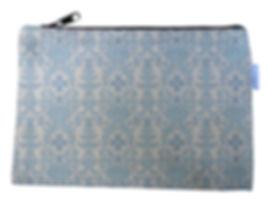 Blue Succulent Canvas Zipper Bag