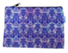 Purple Canvas Zipper Bag