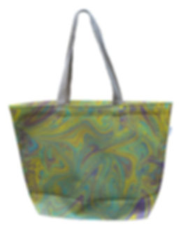 Marbelized Canvas Tote