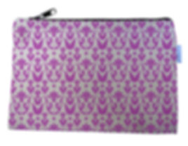 Pink Flowers Canvas Zipper Bag
