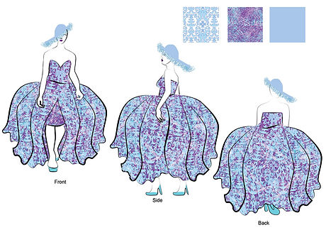 Fashion Illustration: Purple Gown