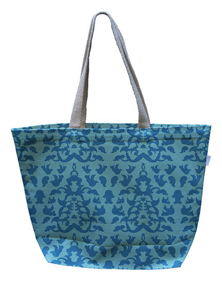 Blue Canvas Tote