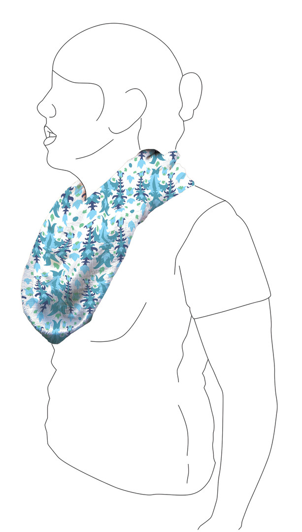 Scarf 1: Side view