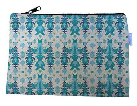 Blue Icicle Canvas Zipper Bag