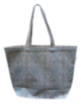 Blue Succulents Canvas Tote
