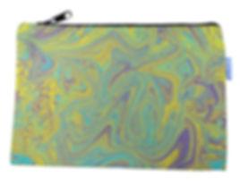 Marbelized Canvas Zipper Bag