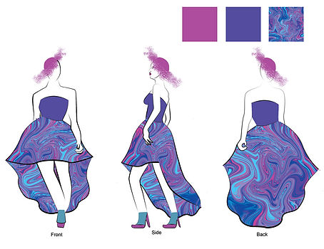 Fashion Illustration: Purple Sun dress