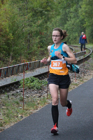 Katja bei Dingelstädter Herbstlauf mit starkem Ergebnis