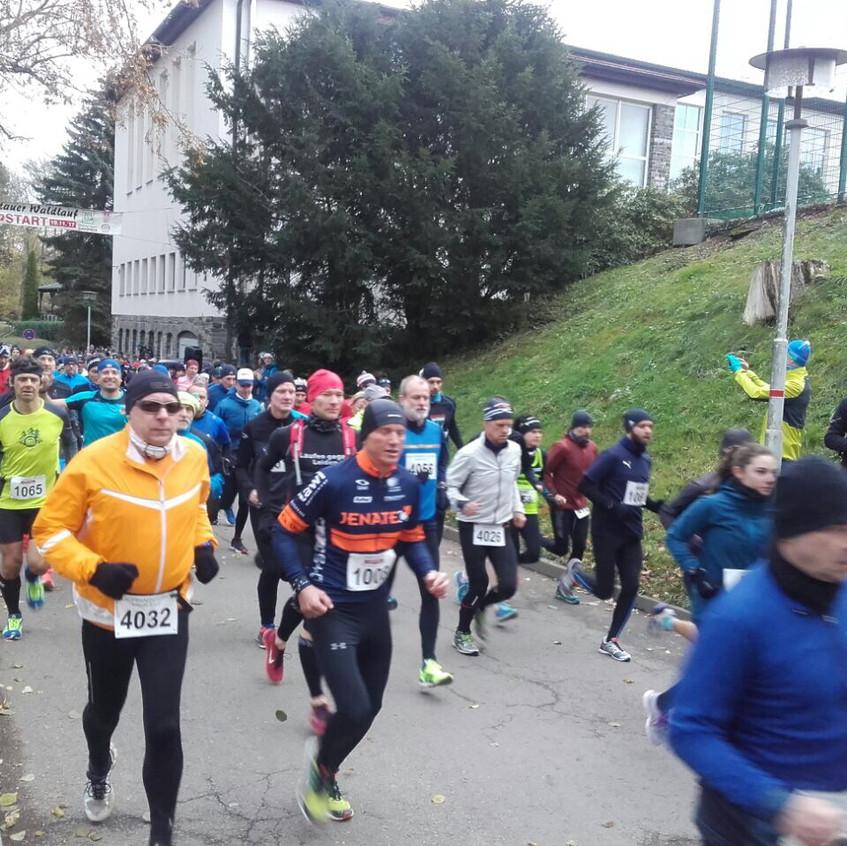 am Start des Marathon- und Marathonpaarlaufes