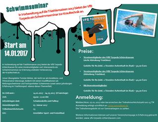 Schwimmseminar startet am 14.01.2017