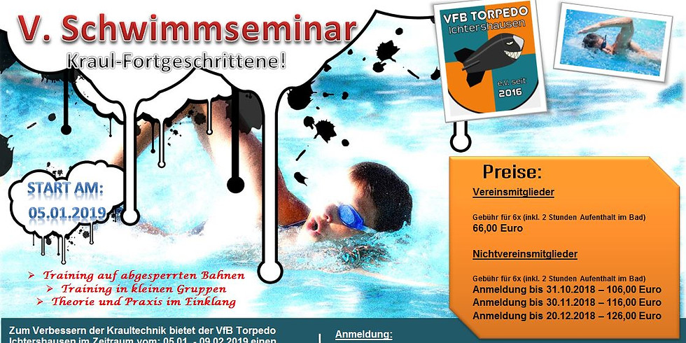 5. Schwimmseminar Kraulfortgeschrittene