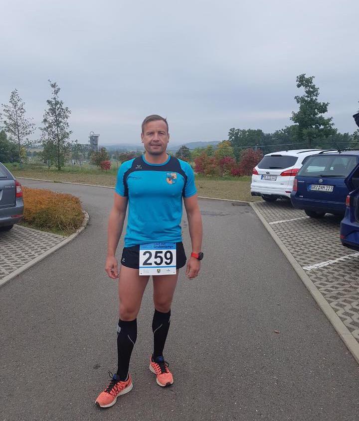Marco B. beim Lauf zur Grubenlampe