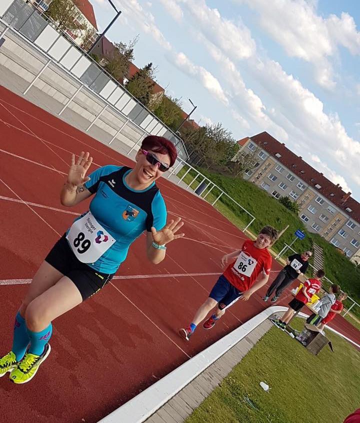 Katja beim Halbstundenlauf