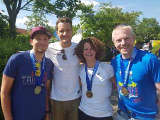 Stefan bei Ironman 70.3 in Kraichgau als Staffelläufer