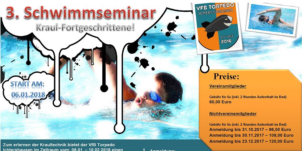 3. Schwimmseminar Kraultechnik für Fortgeschrittene