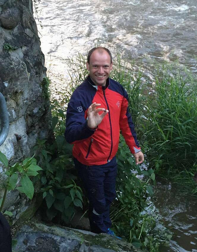 Thorsten Hengelhaupt beim Rennsteigstaffellauf