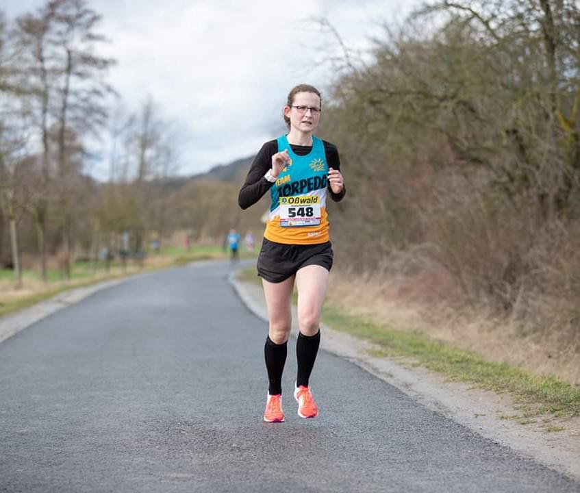 Katja beim Lauf in Creuzburg