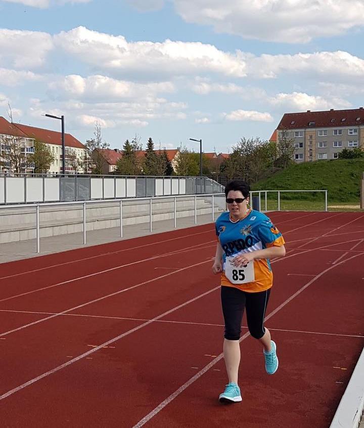 Kathrin beim Halbstundenlauf
