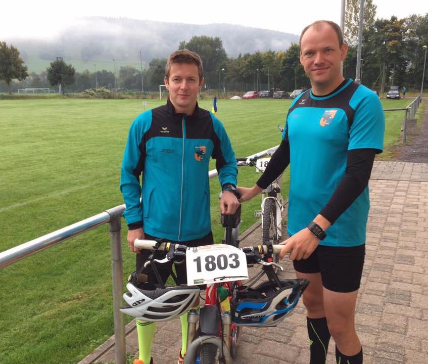 Christian und Thorsten vor dem Start