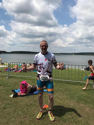 Stefan bei Rothsee-Triathlon