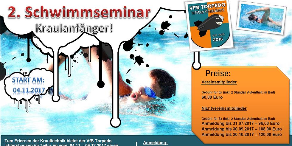 2. Schwimmseminar Kraultechnik für Anfänger