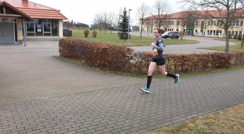 Katja beim Lauf